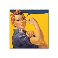 "Rosie the Riveter Square Sticker 3"" x 3"""