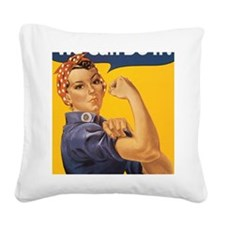 Rosie the Riveter Square Canvas Pillow
