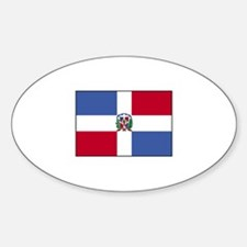 Dominican Republic Flag Oval Decal