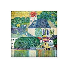 "Klimt Square Sticker 3"" x 3"""