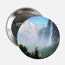 """Albert Bierstadt Staubbach Falls 2.25"""" Button"""
