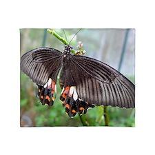Space Shuttle Butterfly Throw Blanket