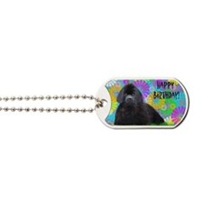 Newfoundland Dog Birthday Card Dog Tags