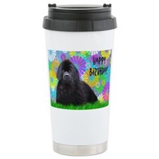Newfoundland Dog Birthday Card Travel Mug