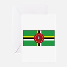 Dominica Flag Greeting Cards (Pk of 10)