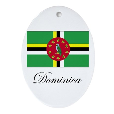 Dominica - Flag Oval Ornament