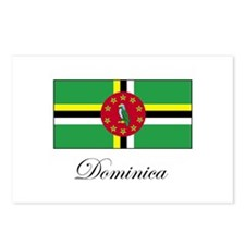 Dominica - Flag Postcards (Package of 8)