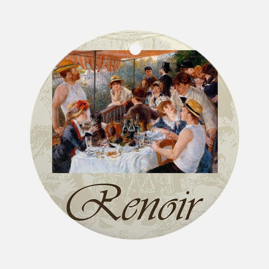 Renoir Luncheon Of The Boating Part Round Ornament