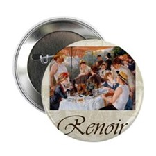 """Renoir Luncheon Of The Boating Party 2.25"""" Button"""