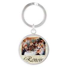 Renoir Luncheon Of The Boating Part Round Keychain
