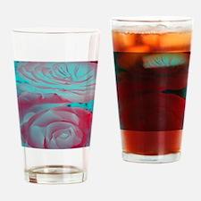 Unique Rose Design Drinking Glass