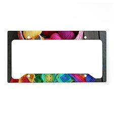 Crochet Rainbow Granny Square License Plate Holder
