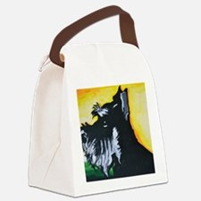 Abstract Mini Schnauzer Canvas Lunch Bag