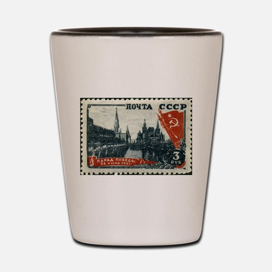 Russian Stamp Shot Glass