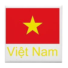 Vietnam Flag Tile Coaster