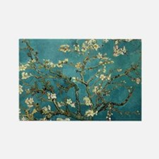 Van Gogh Almond Branches In Bloom Rectangle Magnet