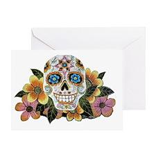 Flower Skull II Greeting Card