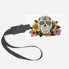 Flower Skull II Luggage Tag