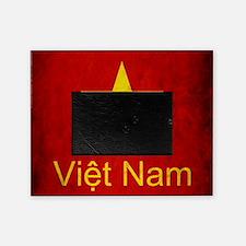 Grunge Vietnam Flag Picture Frame