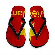 Grunge Vietnam Flag Flip Flops