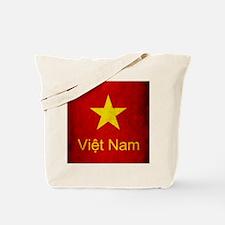 Grunge Vietnam Flag Tote Bag