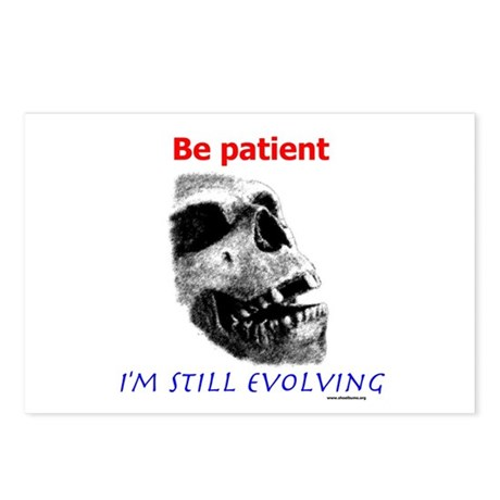 Be Patient, I'm Still Evolving Postcards (Package