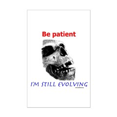 Be Patient, I'm Still Evolving Posters