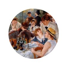 """Renoir Luncheon Of The Boating Party 3.5"""" Button"""