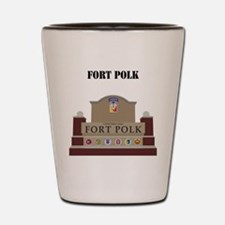 Fort Polk with Text Shot Glass
