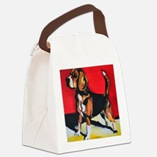 Abstract Beagle Hound Canvas Lunch Bag