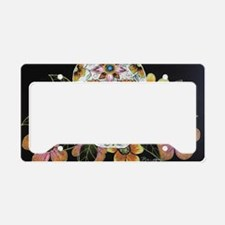 Flower Skull License Plate Holder