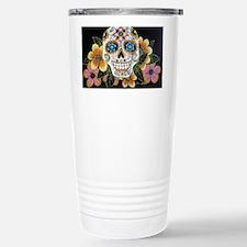 Flower Skull Stainless Steel Travel Mug