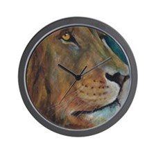 Proud African Lion Wall Clock