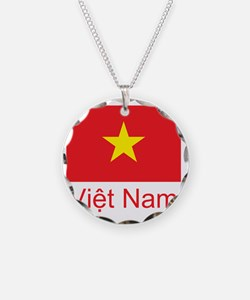 Vietnam Flag Necklace