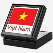 Vietnam Flag Keepsake Box