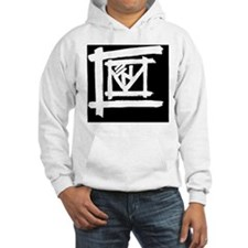 Coven White on Black Hoodie