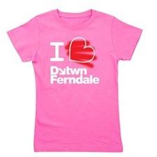 I Heart Downtown Ferndale (white text   Girl's Tee