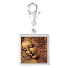Leonardo Da Vinci La Scapigli Silver Square Charm