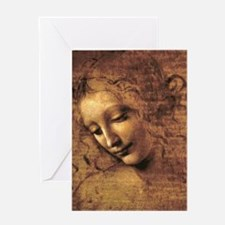 Leonardo Da Vinci La Scapigliata Greeting Card