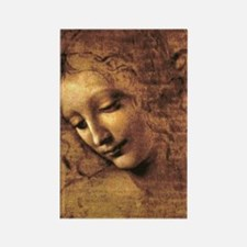 Leonardo Da Vinci La Scapigliata Rectangle Magnet