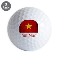 Grunge Vietnam Flag Golf Ball