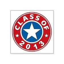 "Class Of 2013 USA Square Sticker 3"" x 3"""
