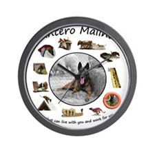 Dantero Malinois - dogs that can live & Wall Clock