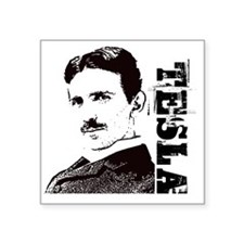 "Tesla Fan Square Sticker 3"" x 3"""