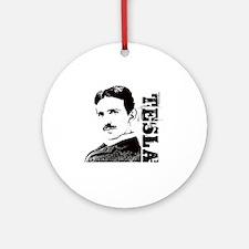 Tesla Fan Round Ornament