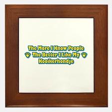Like Kooikerhondje Framed Tile