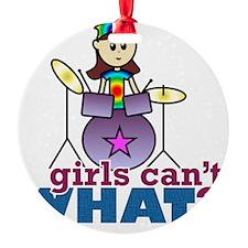 Drummer Girl Ornament