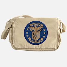 uss lawrence patch transparent Messenger Bag