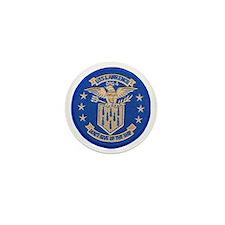 uss lawrence patch transparent Mini Button
