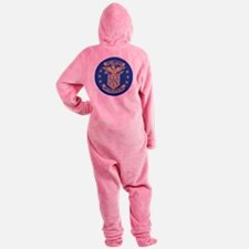 uss lawrence patch transparent Footed Pajamas